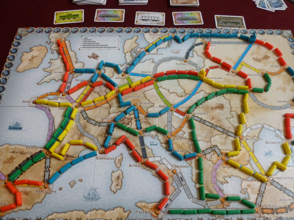 TtR: Europe finished game