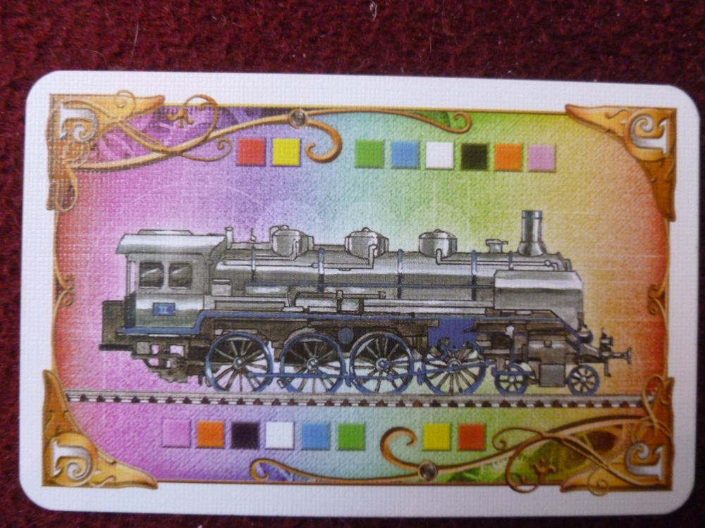 Wild locomotive card