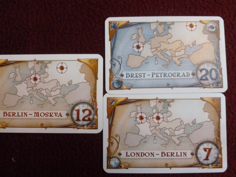 TtR: Europe route cards are also called destination tickets