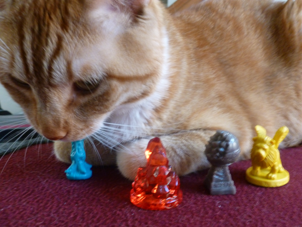 Treasure pieces and Giant Cat