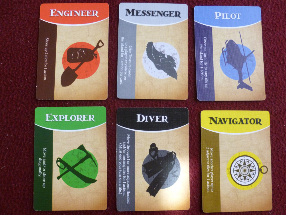 The six role cards.